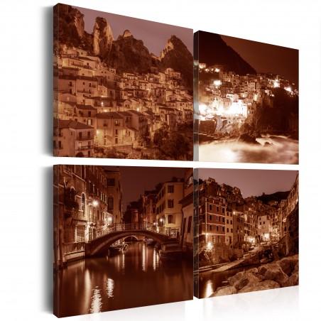 Quadro - Italian Towns (Sepia) - Quadri e decorazioni