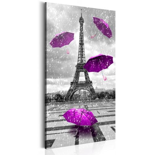 Quadro - Paris: Purple Umbrellas - Quadri e decorazioni