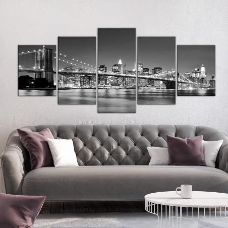 Quadro - Dream about New York (5 Parts) Wide - Quadri e decorazioni