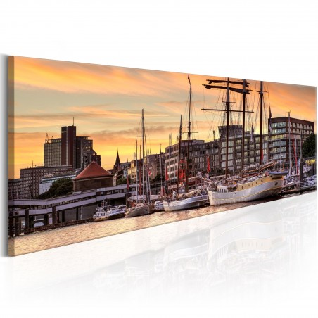 Quadro - Port in Hamburg - Quadri e decorazioni