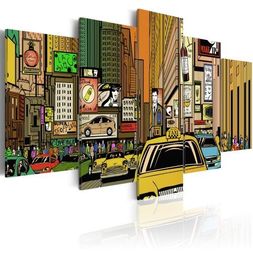 Quadro - Vie di New York in un fumetto - Quadri e decorazioni