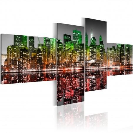 Quadro - Vista iridata su New York - Quadri e decorazioni