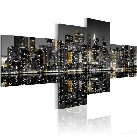 Quadro - Luccichio d'oro dei grattacieli - Quadri e decorazioni