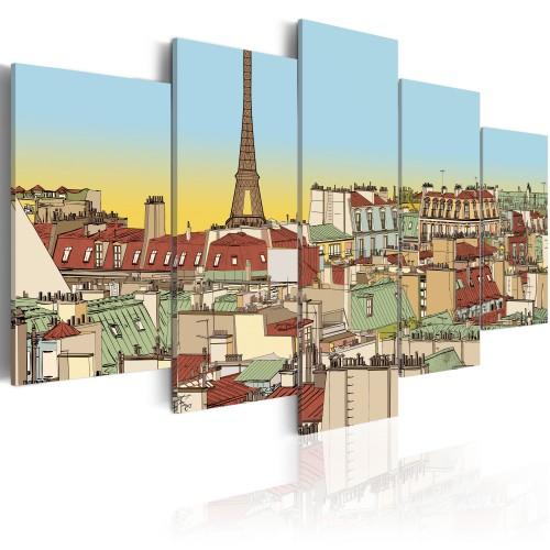 Quadro - Immagini idilliaca di Parigi - Quadri e decorazioni