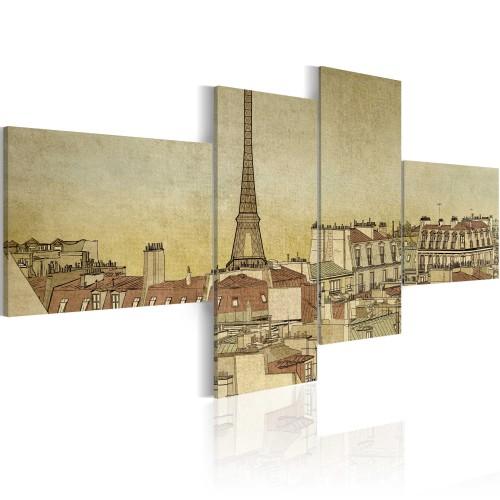 Quadro - Chic parigino in versione retro - Quadri e decorazioni