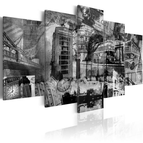 Quadro - Essenza di Londra: 5 pezzi - Quadri e decorazioni