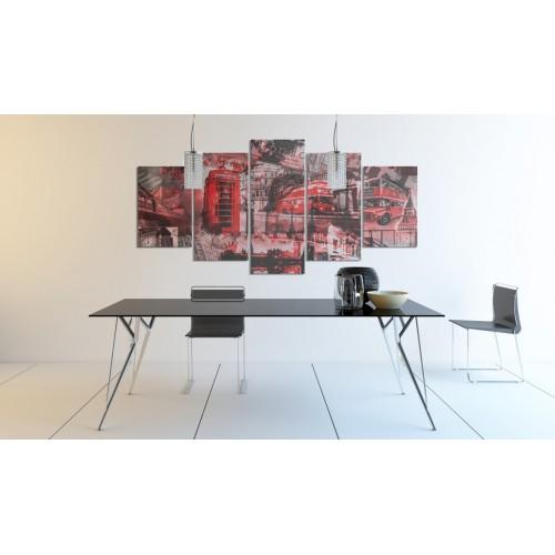 Quadro - Collage londinese: 5 pezzi - Quadri e decorazioni
