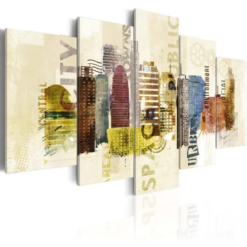 Quadro - Design urbano - 5 pannelli - Quadri e decorazioni