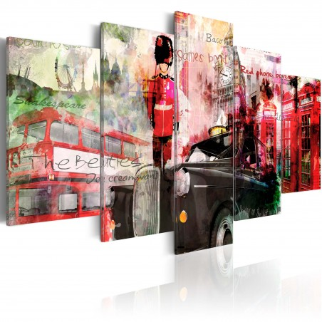 Quadro - Ricordi di Londra - 5 pannelli - Quadri e decorazioni