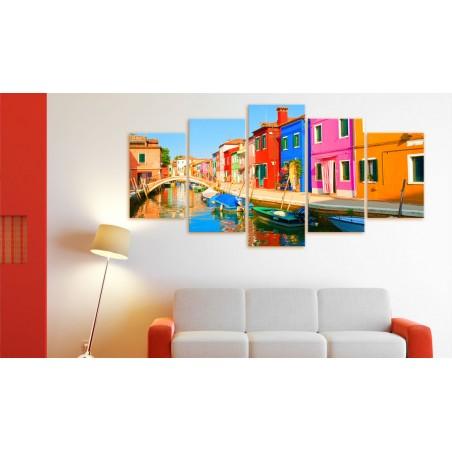 Quadro - Waterfront in rainbow colors - Quadri e decorazioni