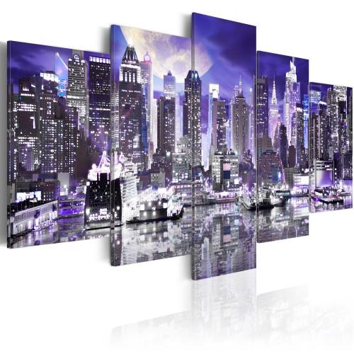 Quadro - Notte di luna a New York City - Quadri e decorazioni