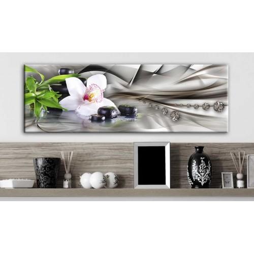 Quadro - Composizione Zen: bambù, orchidee e pietre - Quadri e decorazioni