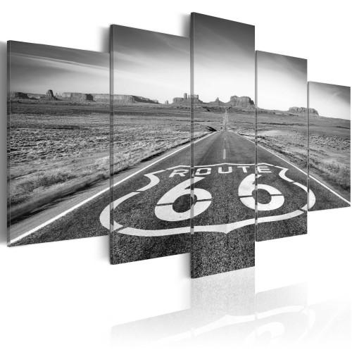 Quadro - Strada 66 - in bianco e nero - Quadri e decorazioni