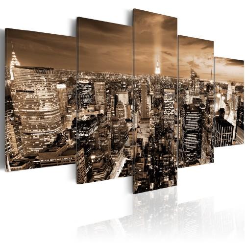 Quadro - New York: luci di notte - Quadri e decorazioni