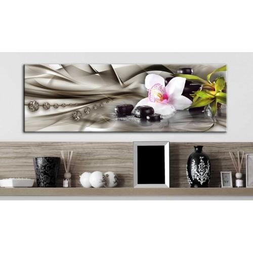 Quadro - Composizione Zen: orchidea, bambù e pietre - Quadri e decorazioni