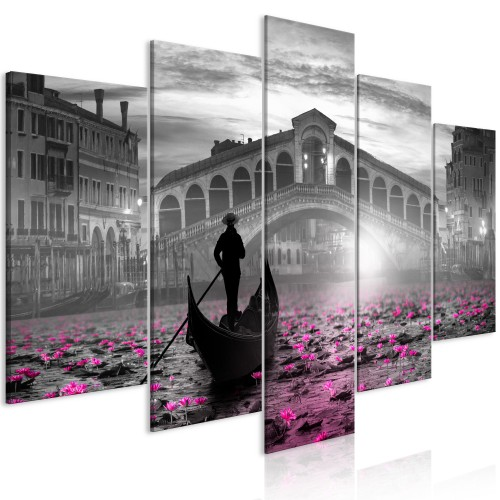 Quadro - Magic Venice (5 Parts) Wide Grey - Quadri e decorazioni