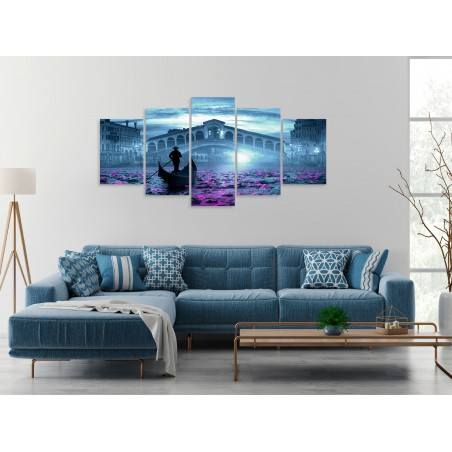 Quadro - Magic Venice (5 Parts) Wide Blue - Quadri e decorazioni