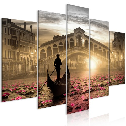 Quadro - Magic Venice (5 Parts) Wide Orange - Quadri e decorazioni