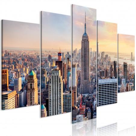 Quadro - Sunny Metropolis (5 Parts) Wide - Quadri e decorazioni
