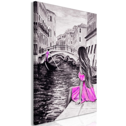 Quadro - Far Dreams (1 Part) Vertical Pink - Quadri e decorazioni