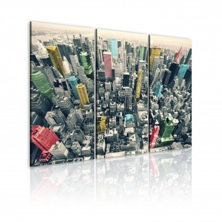 Quadro - New York: bianconero ma colorato - Quadri e decorazioni