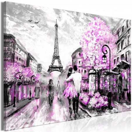 Quadro - Colourful Rendez-Vous (1 Part) Wide Pink - Quadri e decorazioni
