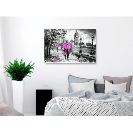Quadro - Walk in London (1 Part) Wide Pink - Quadri e decorazioni