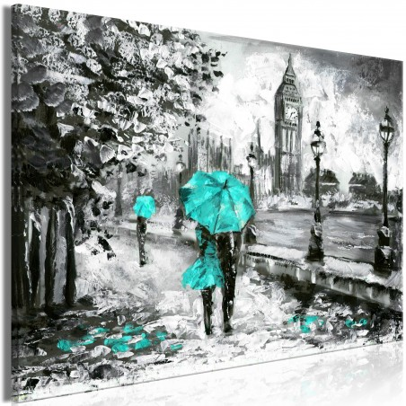 Quadro - Walk in London (1 Part) Wide Turquoise - Quadri e decorazioni