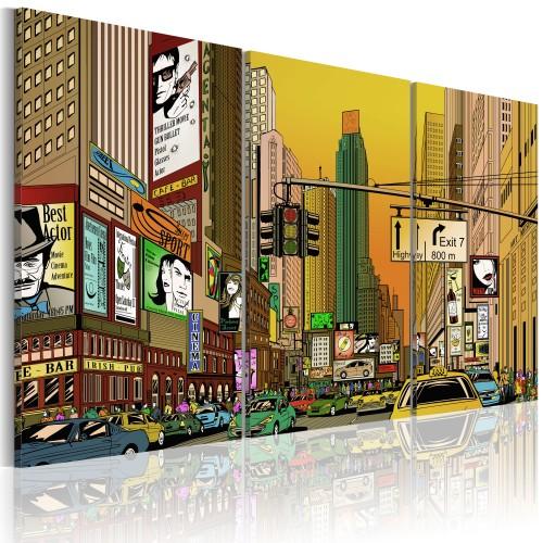 Quadro - NYC in un fumetto - Quadri e decorazioni