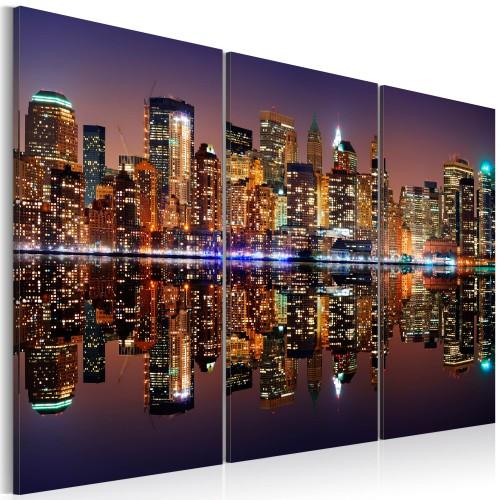 Quadro - New York riflessa in uno specchio d'acqua - Quadri e decorazioni