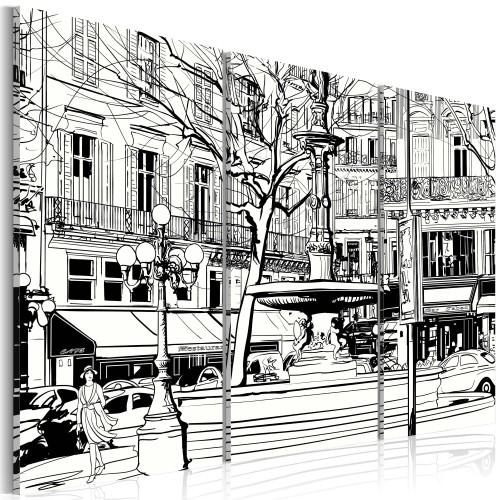 Quadro - Schizzo di una piazza parigina - Quadri e decorazioni