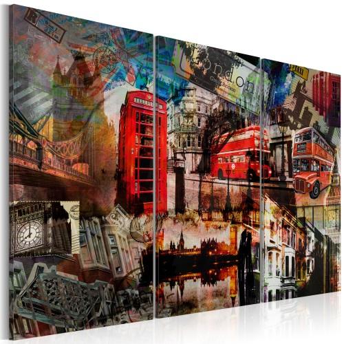 Quadro - Collage londinese: trittico - Quadri e decorazioni