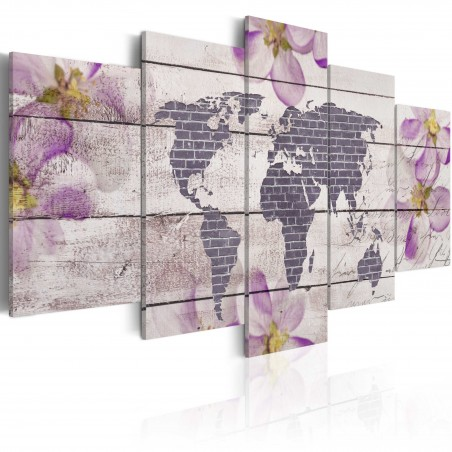 Quadro - Romantica mappa del mondo - Quadri e decorazioni