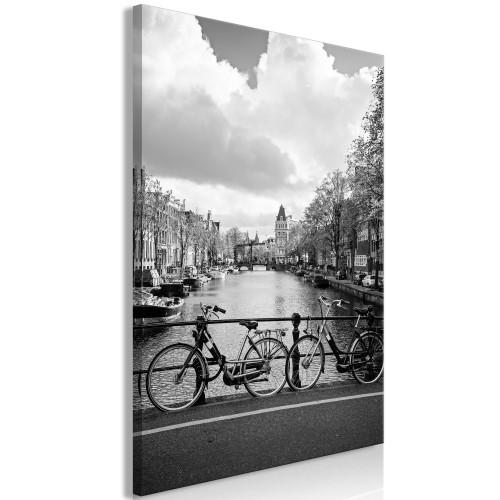 Quadro - Bikes On Bridge (1 Part) Vertical - Quadri e decorazioni