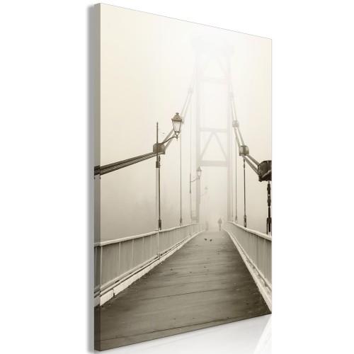 Quadro - Bridge in the Fog (1 Part) Vertical - Quadri e decorazioni