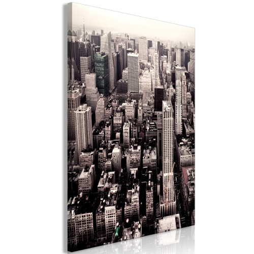 Quadro - Manhattan In Sepia (1 Part) Vertical - Quadri e decorazioni