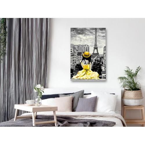 Quadro - Paris Colour (1 Part) Vertical Yellow - Quadri e decorazioni