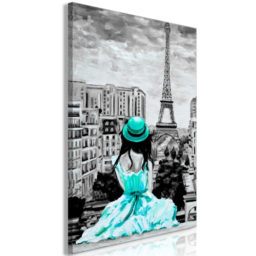 Quadro - Paris Colour (1 Part) Vertical Green - Quadri e decorazioni