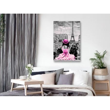 Quadro - Paris Colour (1 Part) Vertical Pink - Quadri e decorazioni