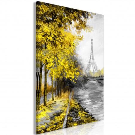 Quadro - Paris Channel (1 Part) Vertical Yellow - Quadri e decorazioni