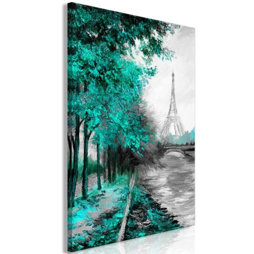 Quadro - Paris Channel (1 Part) Vertical Green - Quadri e decorazioni