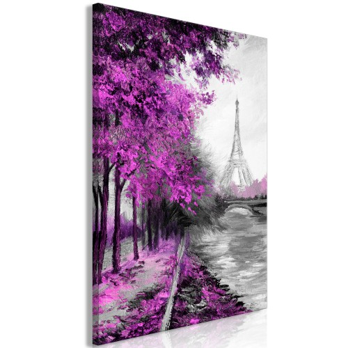 Quadro - Paris Channel (1 Part) Vertical Pink - Quadri e decorazioni