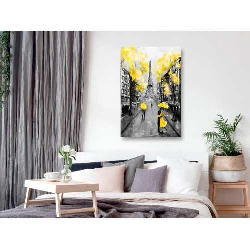 Quadro - Paris Rendez-Vous (1 Part) Vertical Yellow - Quadri e decorazioni