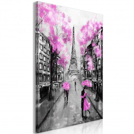 Quadro - Paris Rendez-Vous (1 Part) Vertical Pink - Quadri e decorazioni