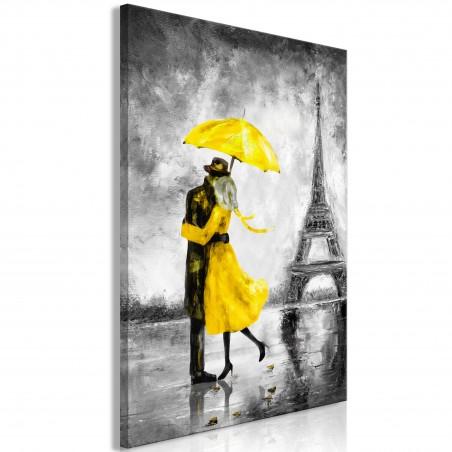 Quadro - Paris Fog (1 Part) Vertical Yellow - Quadri e decorazioni
