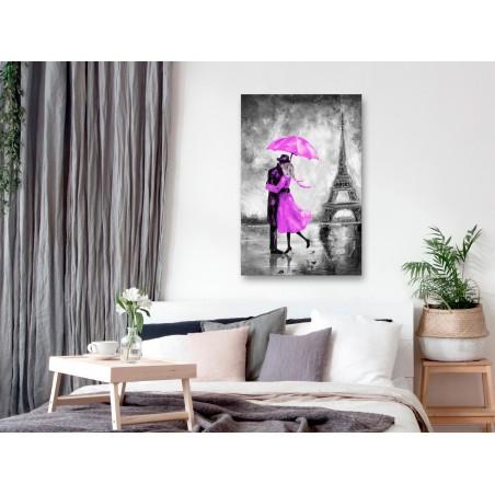 Quadro - Paris Fog (1 Part) Vertical Pink - Quadri e decorazioni