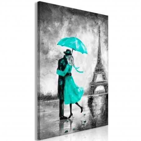 Quadro - Paris Fog (1 Part) Vertical Green - Quadri e decorazioni