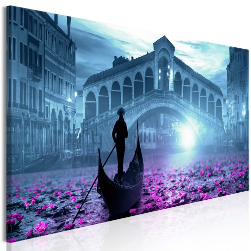 Quadro - Magic Venice (1 Part) Narrow Blue - Quadri e decorazioni