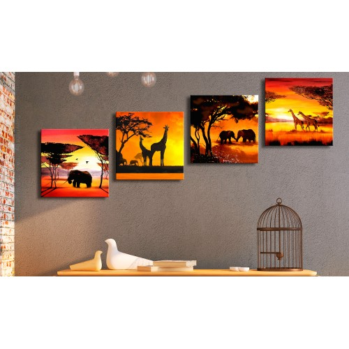 Quadro - African Animals (4 Parts) - Quadri e decorazioni