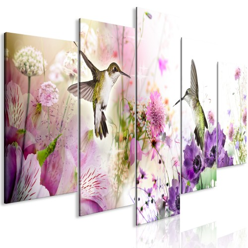 Quadro - Colourful Nature (5 Parts) Wide - Quadri e decorazioni